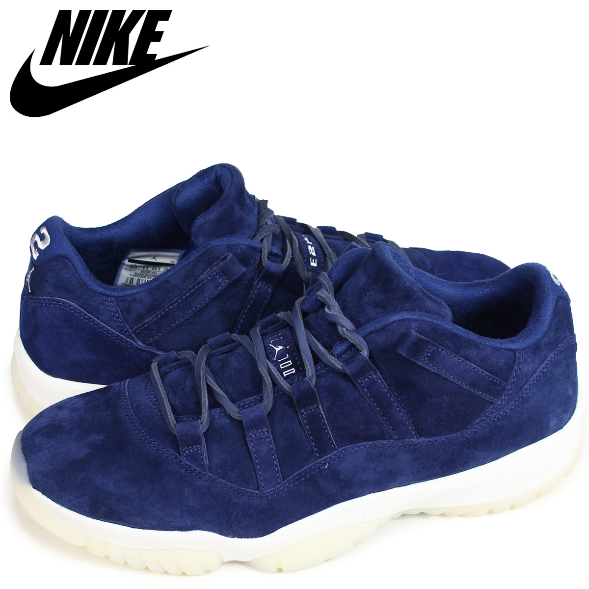 9c5a965f379 NIKE Nike Air Jordan 11 nostalgic sneakers men AIR JORDAN 11 RETRO LOW  RE2PECT AV2187-441 blue