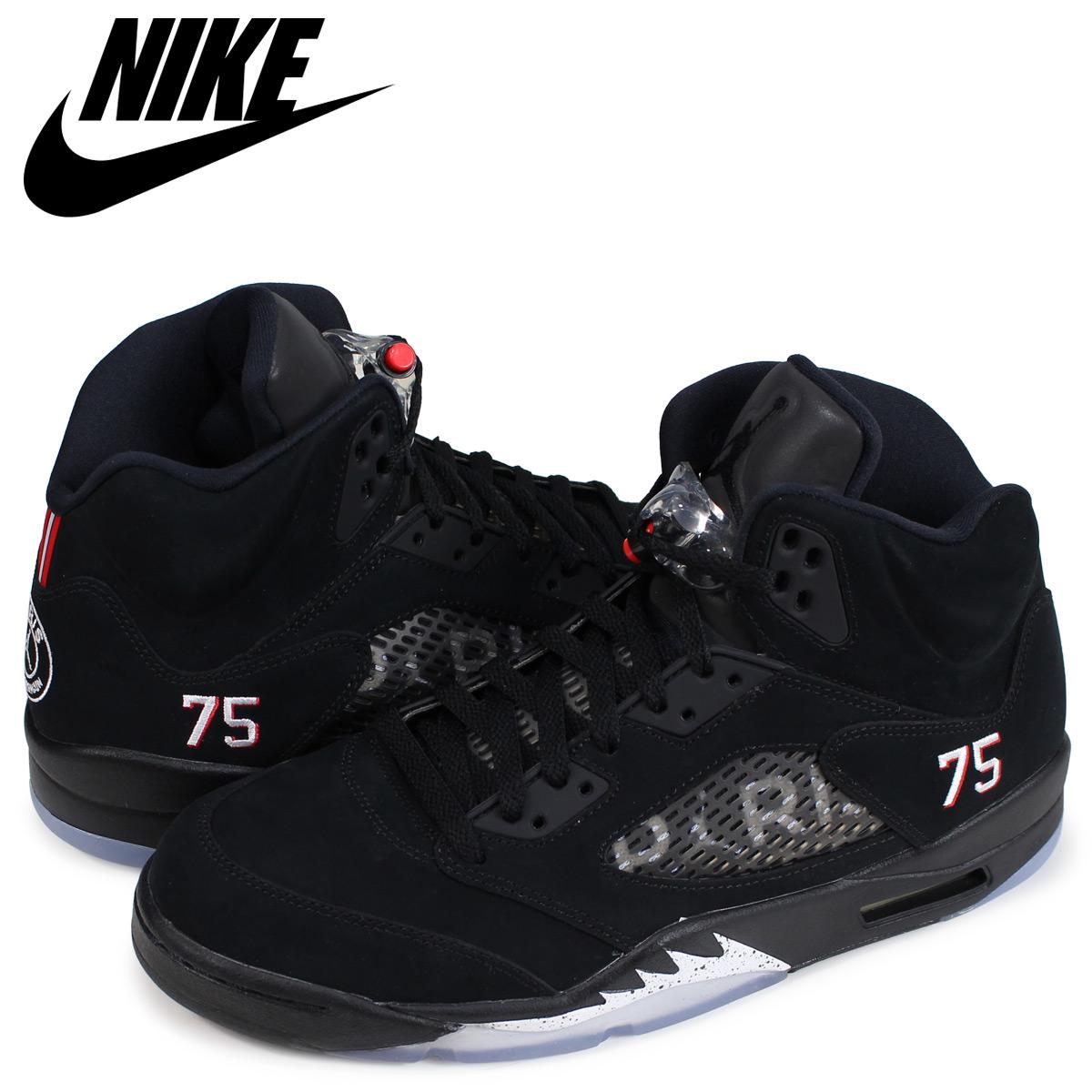 on sale 5c537 68b72 NIKE Nike Air Jordan 5 nostalgic sneakers men AIR JORDAN 5 RETRO BCFC PSG  black black AV9175-001