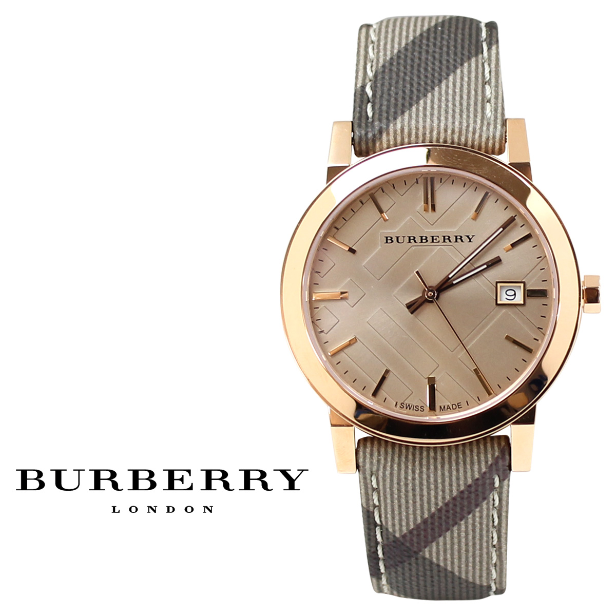 burberry gold womens watch