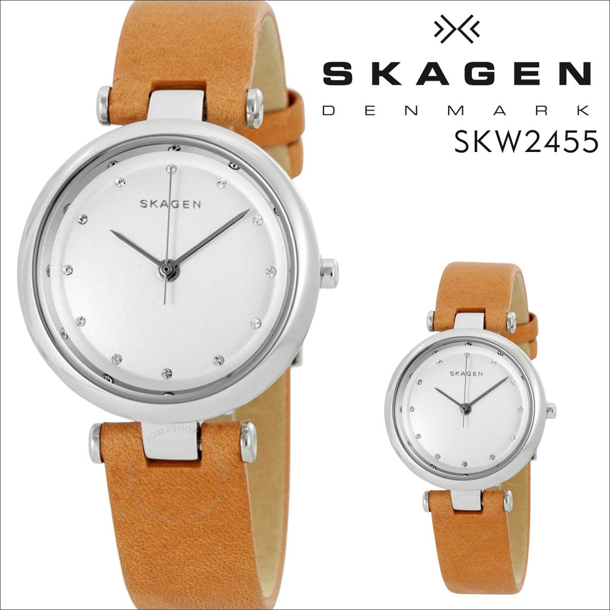 スカーゲン SKAGEN 腕時計 レディース 時計 レザー TANJA ターニャ SKW2455 ブラウン 防水 [ あす楽対象外 ]