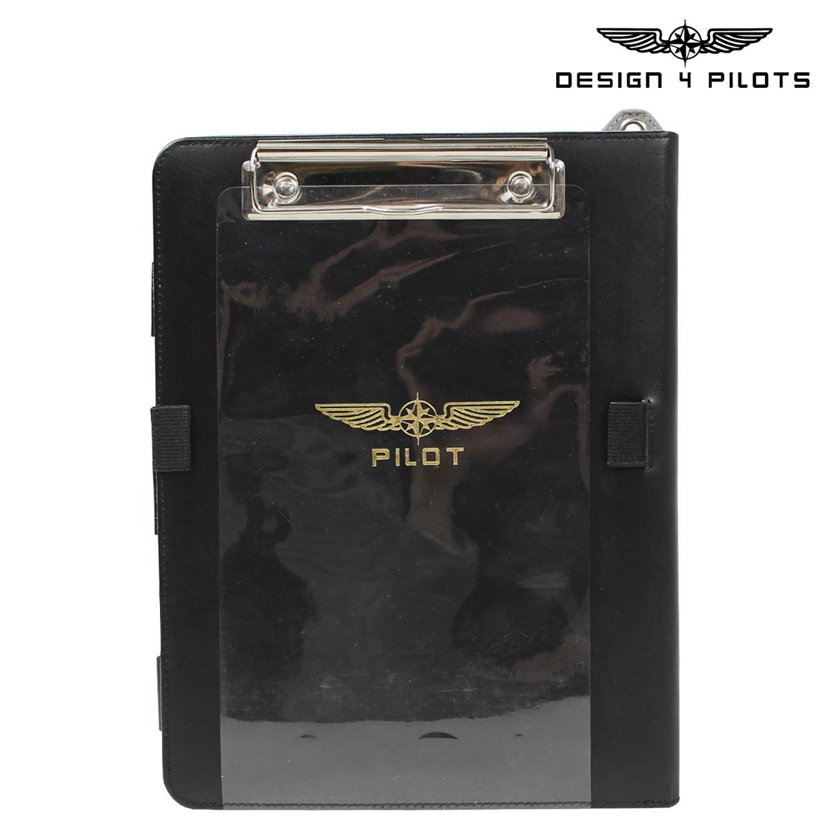 DESIGN 4 PILOTS デザイン4パイロッツ iPad ケース メモ帳 ニーボード ブラック I-PILOT 飛行機 パイロットグッズ メンズ
