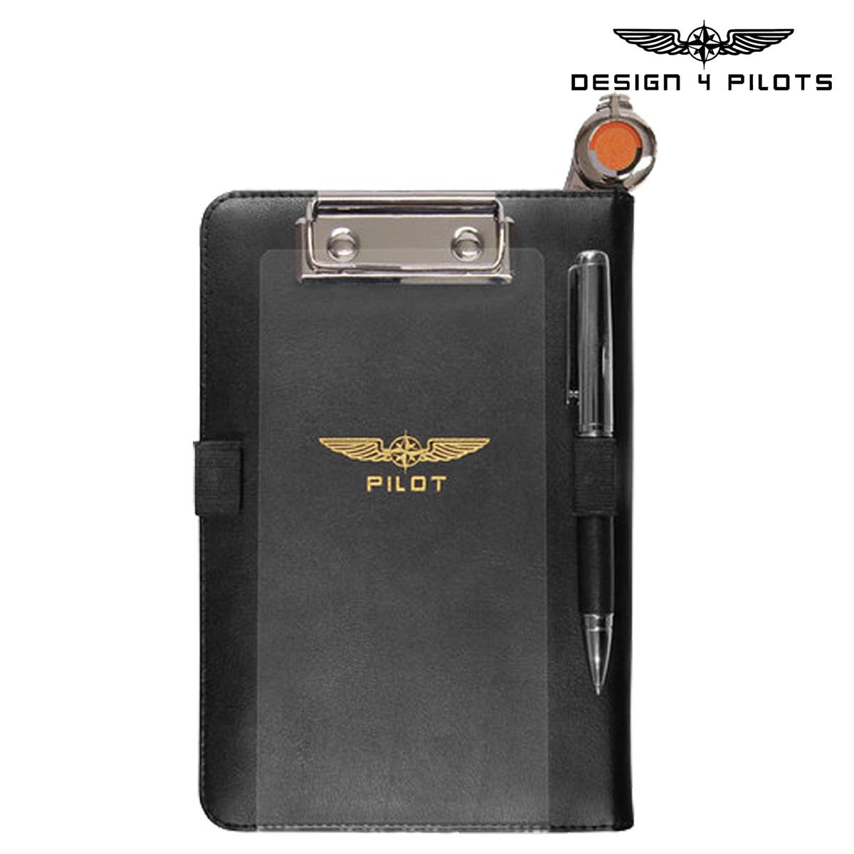 DESIGN 4 PILOTS デザイン4パイロッツ iPad mini ケース メモ帳 ニーボード ブラック I-PILOT MINI 飛行機 パイロットグッズ メンズ