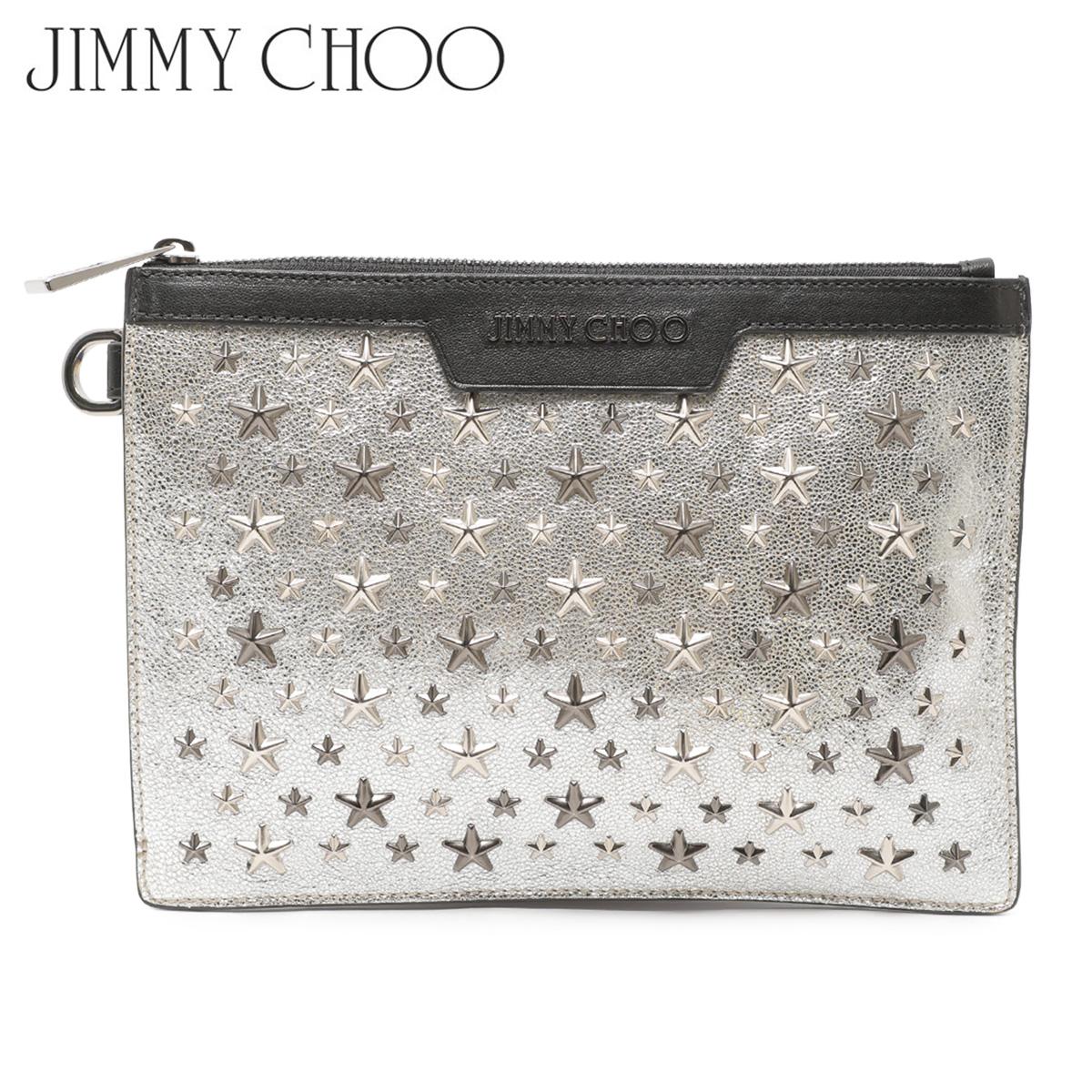 【訳あり】 JIMMY CHOO ジミーチュウ バッグ クラッチバッグ レディース CLUTCH BAG シルバー 16597-12 【返品不可】
