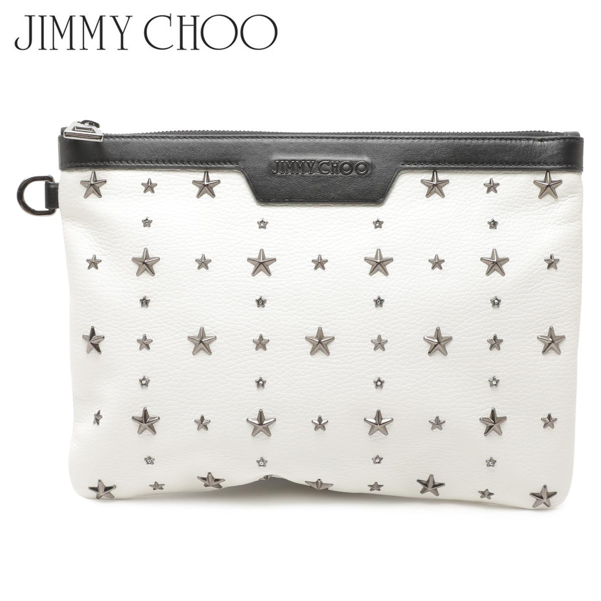 【訳あり】 JIMMY CHOO ジミーチュウ バッグ クラッチバッグ レディース CLUTCH BAG ホワイト 16597-43 【返品不可】