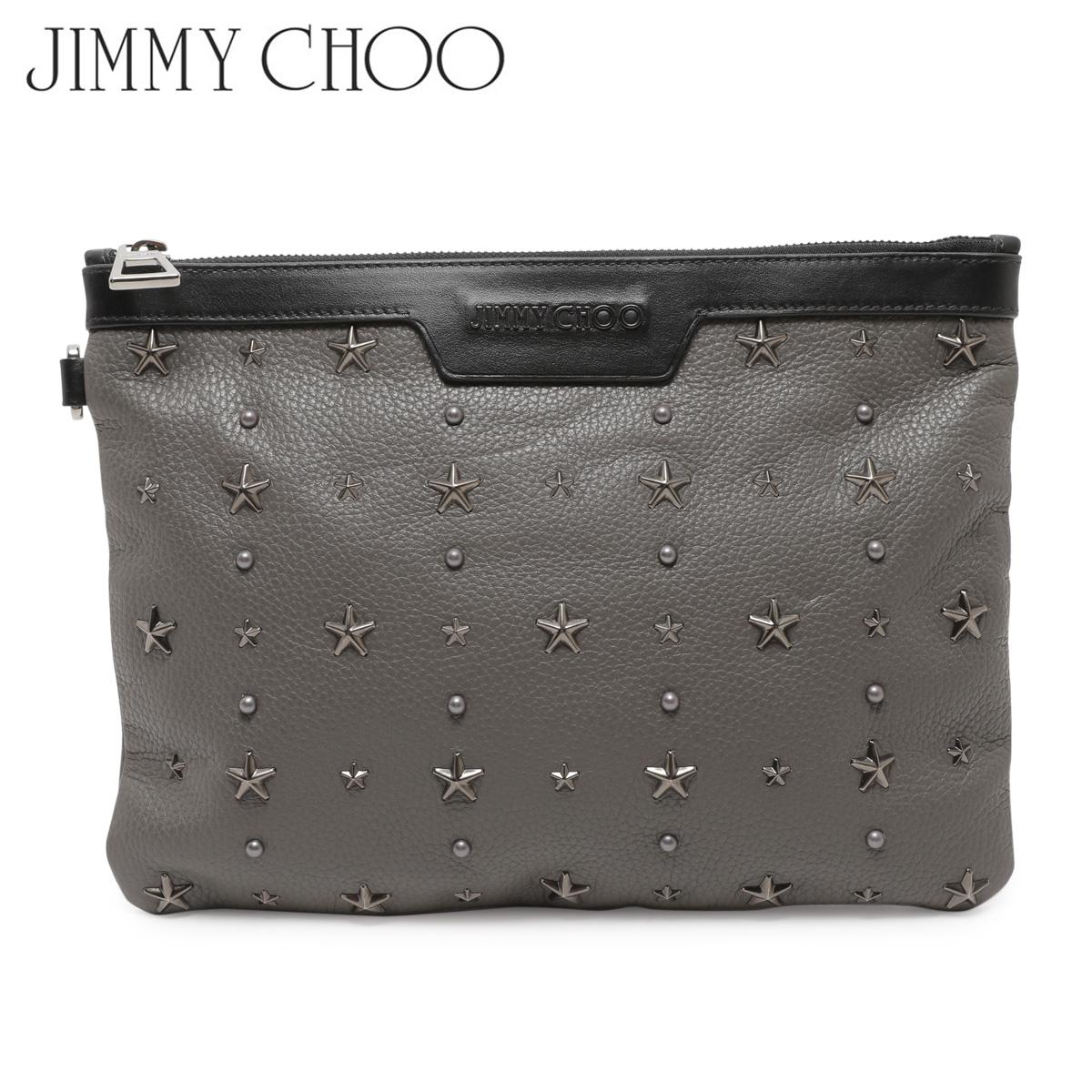 【訳あり】 JIMMY CHOO ジミーチュウ バッグ クラッチバッグ レディース CLUTCH BAG グレー 16597-43 【返品不可】