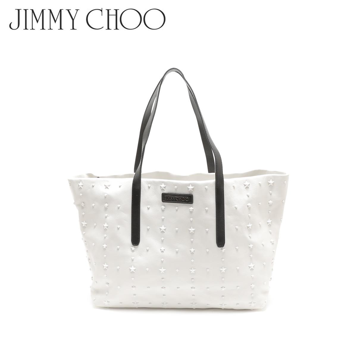【訳あり】 JIMMY CHOO ジミーチュウ バッグ トートバッグ スタッズ レディース TOTE BAG ホワイト 白 1119104 【返品不可】