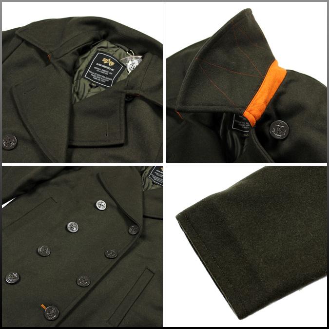 Alpha 阿尔法工业豌豆大衣 MJE41021C1 少尉冬天羊毛男士