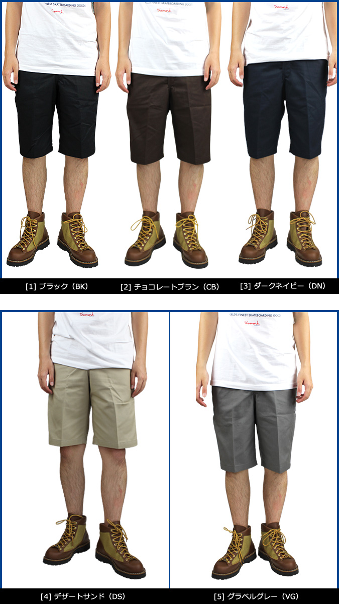 Dickies WR850 短裤 Dickies 男装 [颜色] [8/10 额外股票] [8/17 在股票中添加]