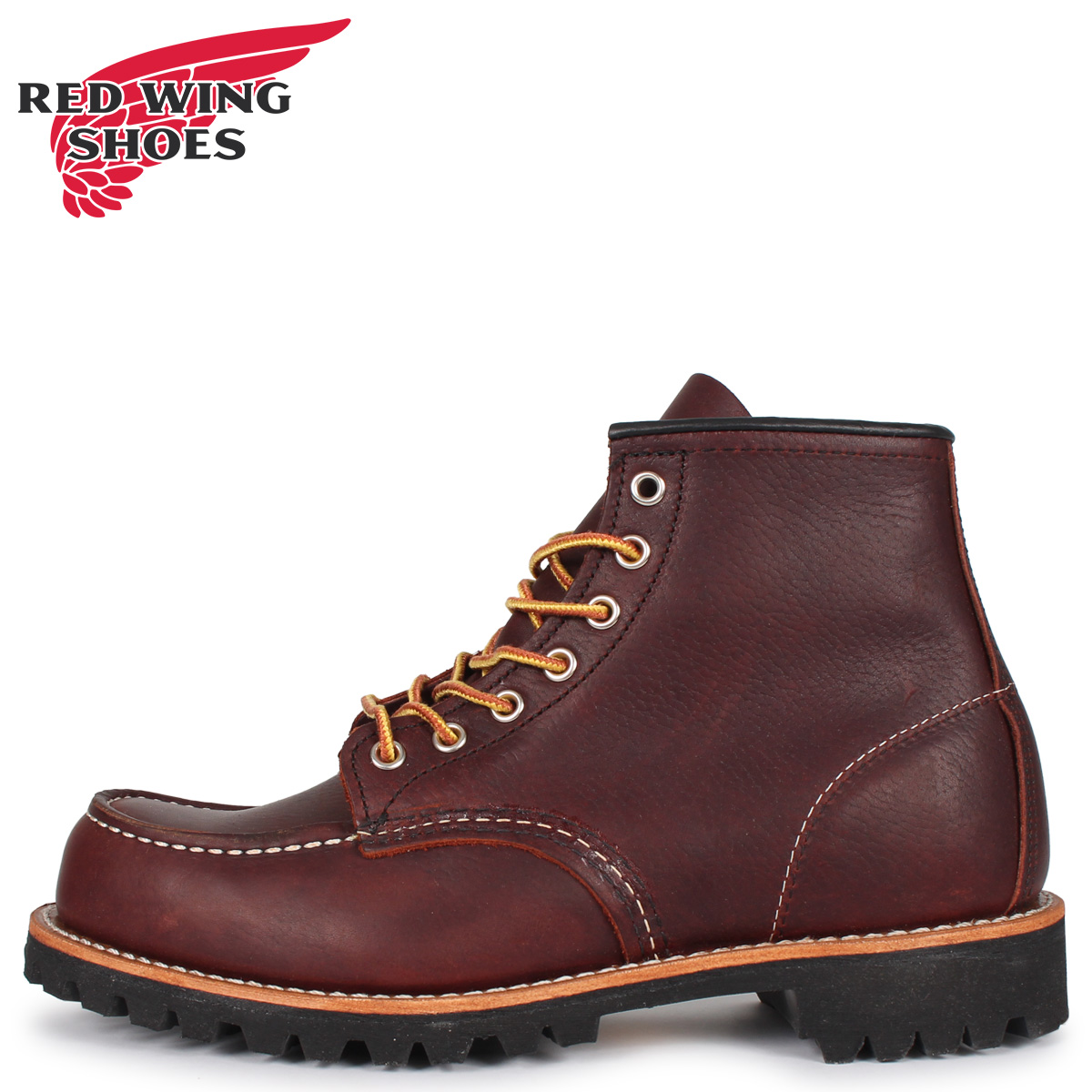 RED WING レッドウィング ブーツ アイリッシュセッター ラフネック メンズ レディース ROUGHNECK 6INCH BOOT Dワイズ ダーク ブラウン 8146