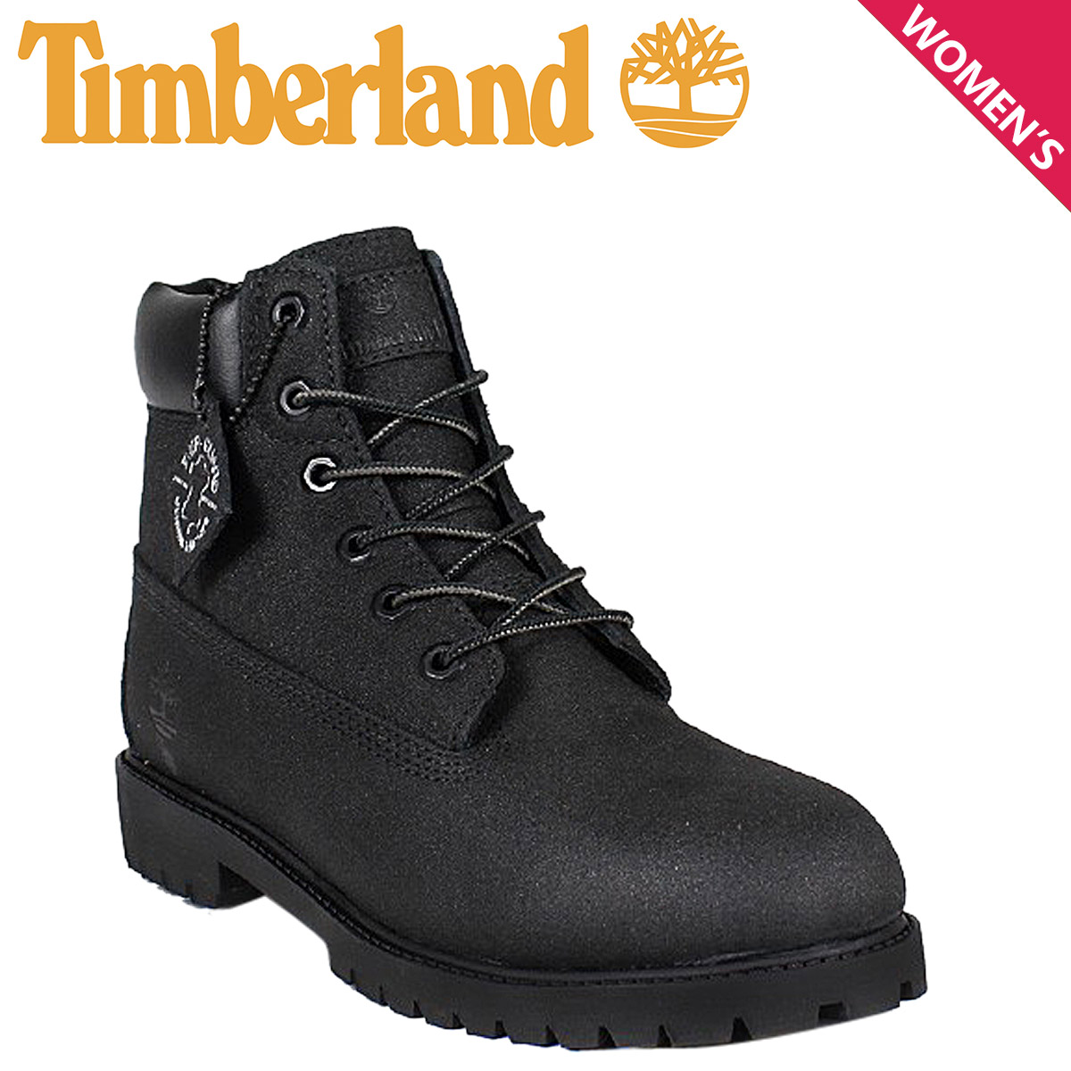 Timberland boots Lady's 6 inches Timberland WOMENS 6INCH PREMIUM WATERPROOF BOOTS 8,658A W Wise premium waterproofing black black