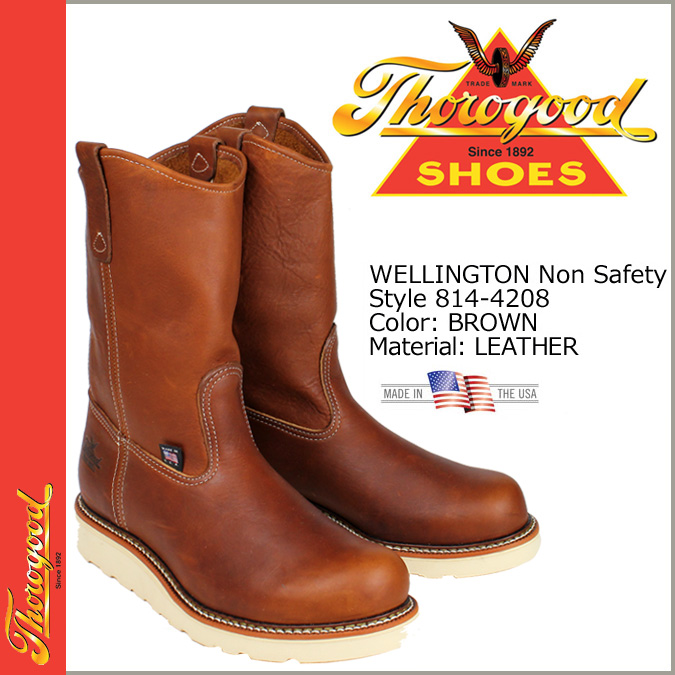 Thorogood by THOROGOOD Pecos boot 814-4208 WELLINGTON NON SAFETY D wise EE wise leather mens