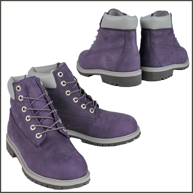 6 inches of Timberland Timberland premium boots purple 3195R 6INCH PREMIUM BOOT youth kids child PURPLE GS Lady's