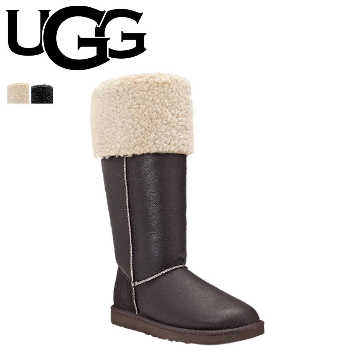 8f5bfc66197 UGG アグベイリーボタンムートンブーツロングブーツ WOMENS OVER THE KNEE BAILEY BUTTON 3175  sheepskin Lady's