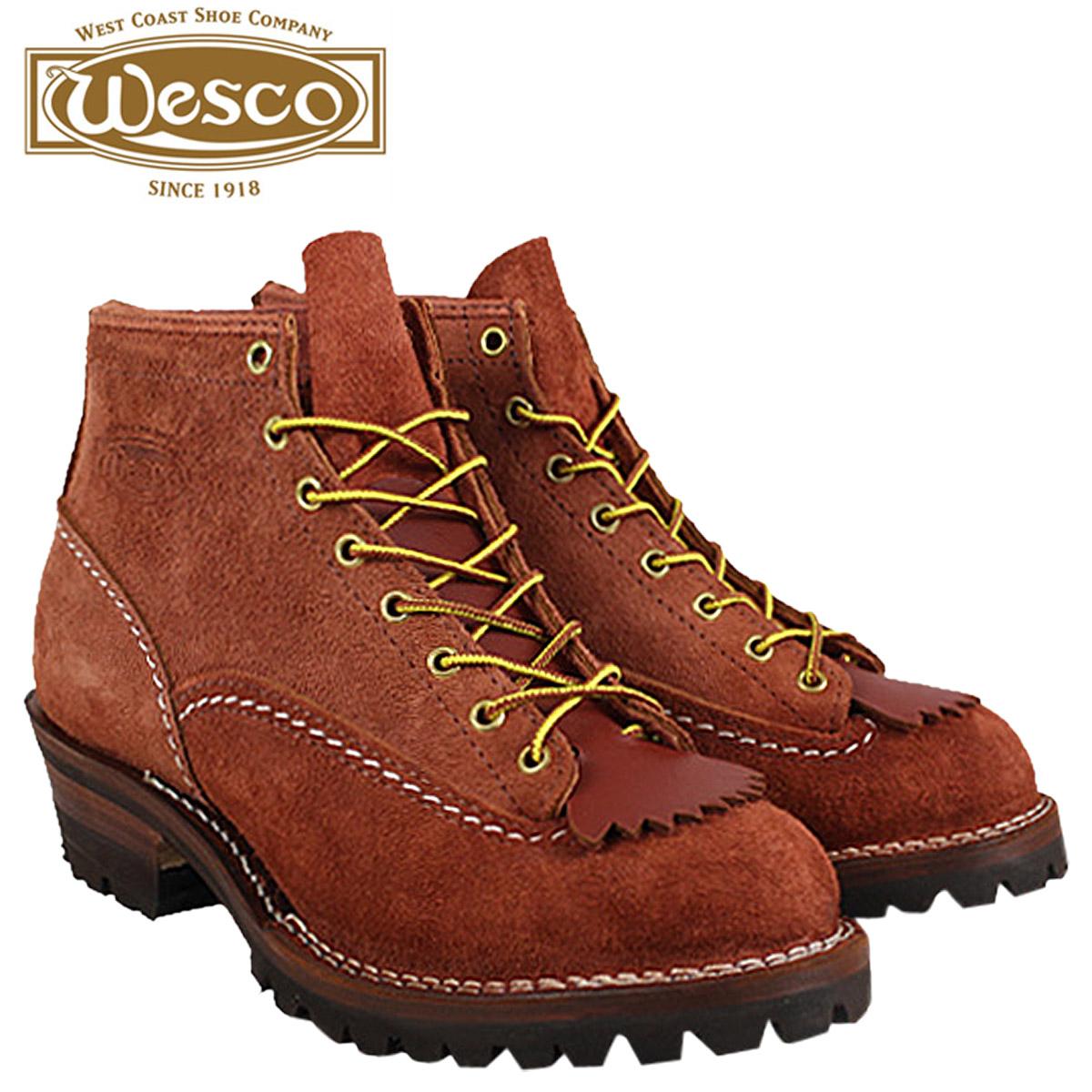 WESCO ウエスコ 6インチ ジョブマスター ブーツ 6INCH JOB MASTER Eワイズ スエード レッド 赤ウッド ウェスコ スウェード RW106100 メンズ