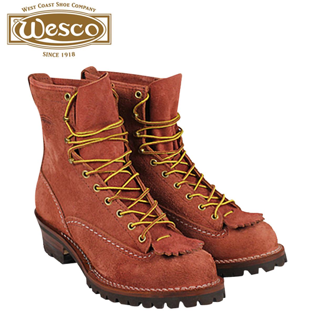 WESCO ウエスコ 8インチ ジョブマスター ブーツ 8INCH JOB MASTER Eワイズ スエード レッドウッド RW108100 ウェスコ メンズ