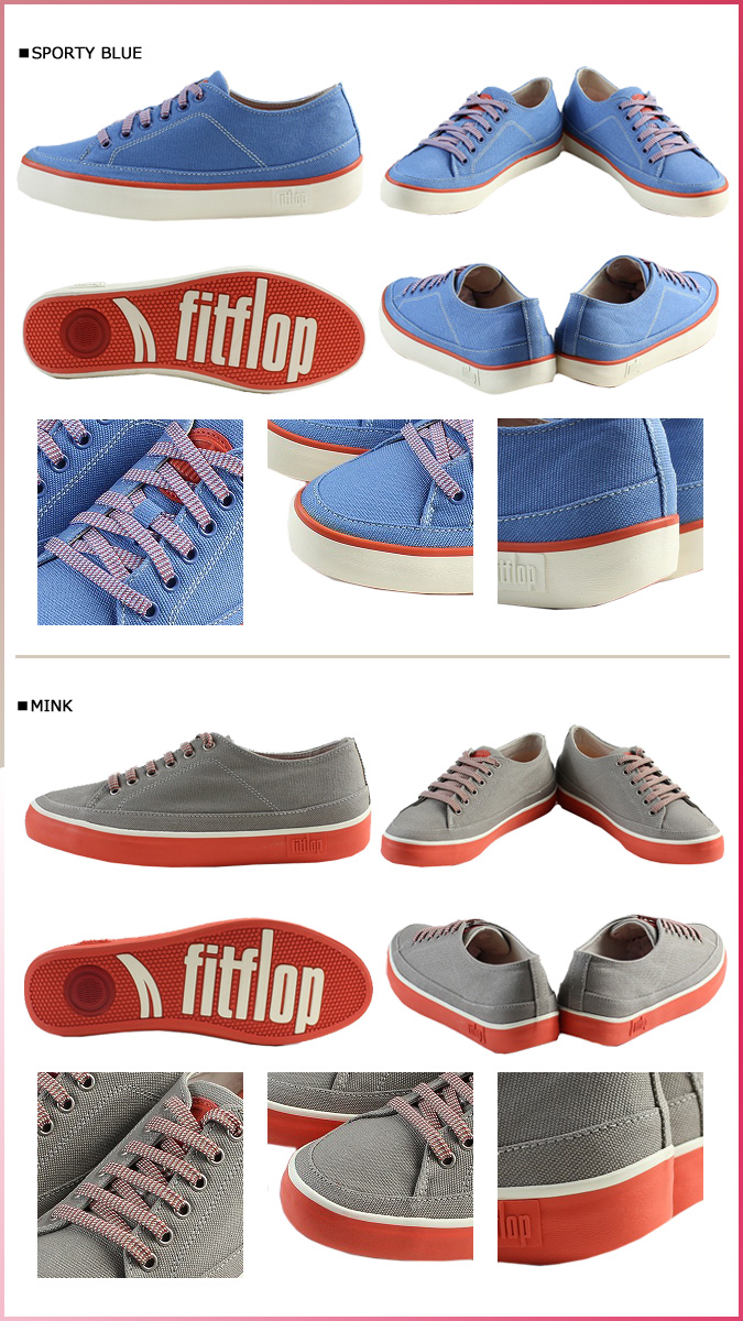 [SOLD OUT]合身FLOP FitFlop运动鞋2彩色184-068 184-226 SUPER T SNEAKER CANVAS帆布超级市场T女士