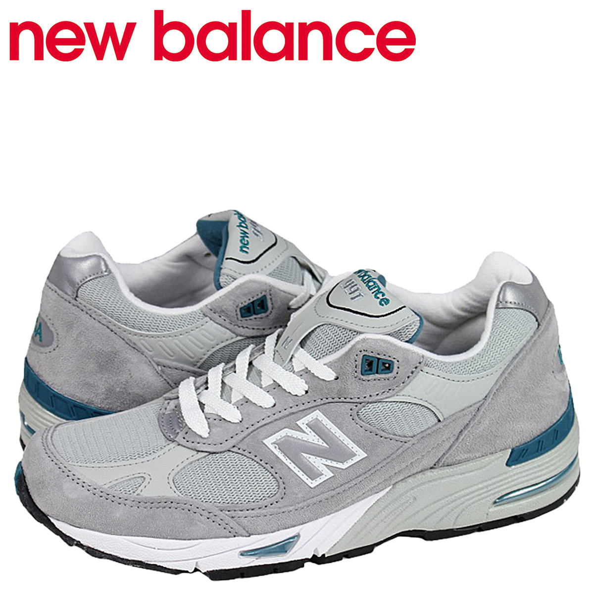 New Balance new balance M991GT Made in USA sneakers gray D Wise suede cloth  mesh suede men