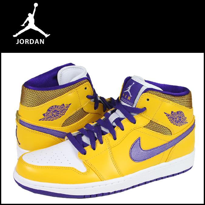 huge selection of 038d6 f6197 Nike NIKE AIR JORDAN 1 MID 554724-708 sneakers Air Jordan 1 mid leather  mens ...