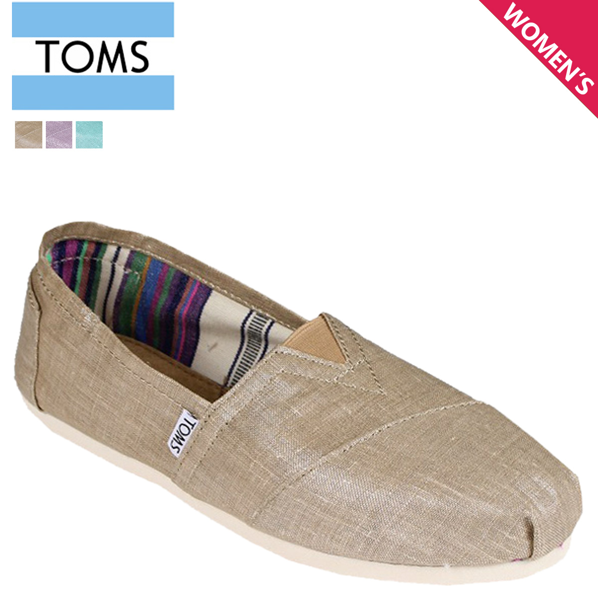 Toms Shoes Women S Slip On 001108b Classics Cotton Las 2018 New