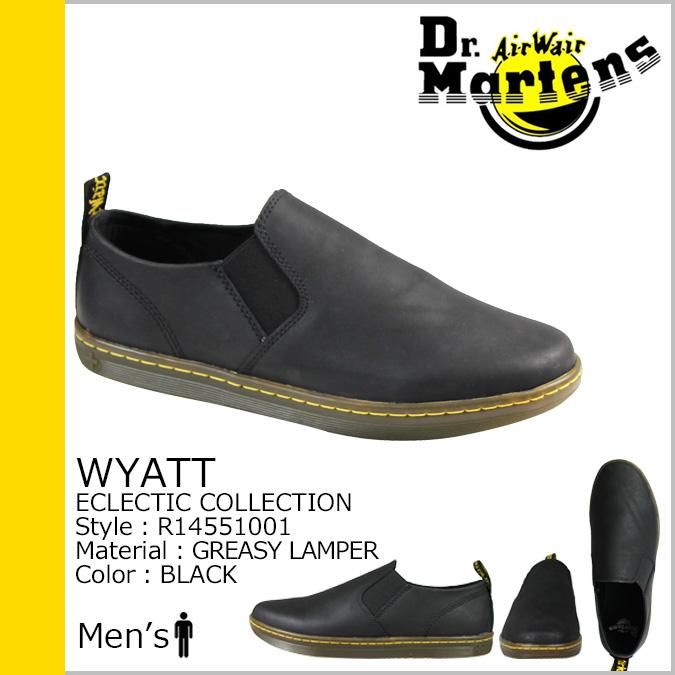 博士马滕斯 Dr.Martens 滑 R14551001 怀亚特皮革男人