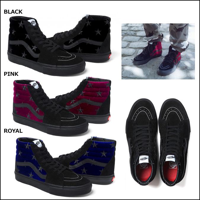 [卖出]-高高的货车天鹅绒 SK8 HI 运动鞋 3 色天鹅绒滑冰高男装货车 Ske 高协作