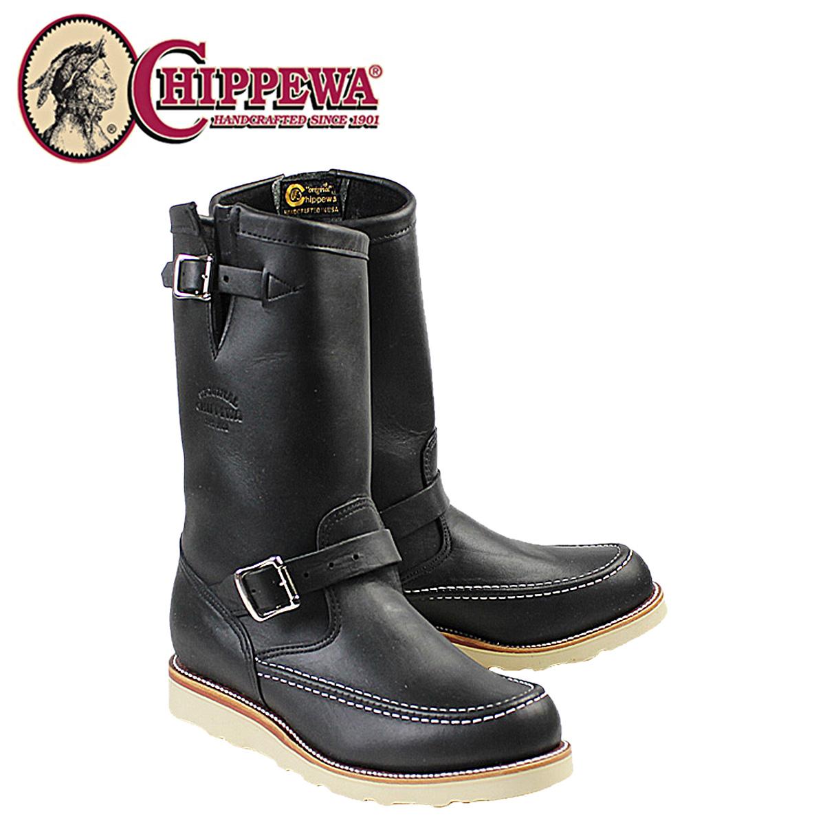 CHIPPEWA チペワ 11インチ オデッサ ハイランダー ブラック 1901M00 11INCH ODESSA HIGHLANDER Eワイズ レザー BOOT メンズ