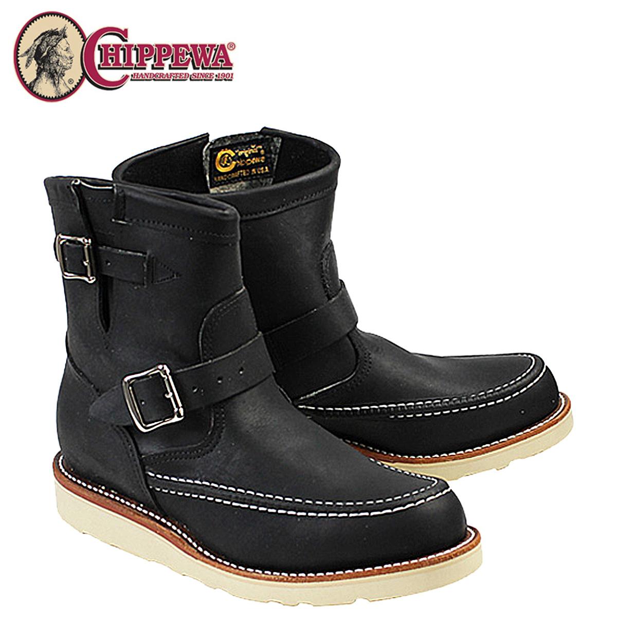 CHIPPEWA チペワ 7INCH HIGHLANDER ブーツ 7インチ ハイランダー エンジニア ブーツ 1901M07 Eワイズ ブラック メンズ