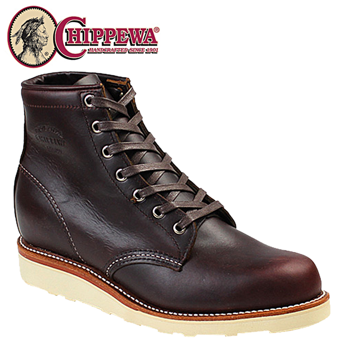 CHIPPEWA チペワ INCH PLAIN TOE WEDGE boots 6 inches plane toe wedge boots 61901M16 D Wise cordovan leather men