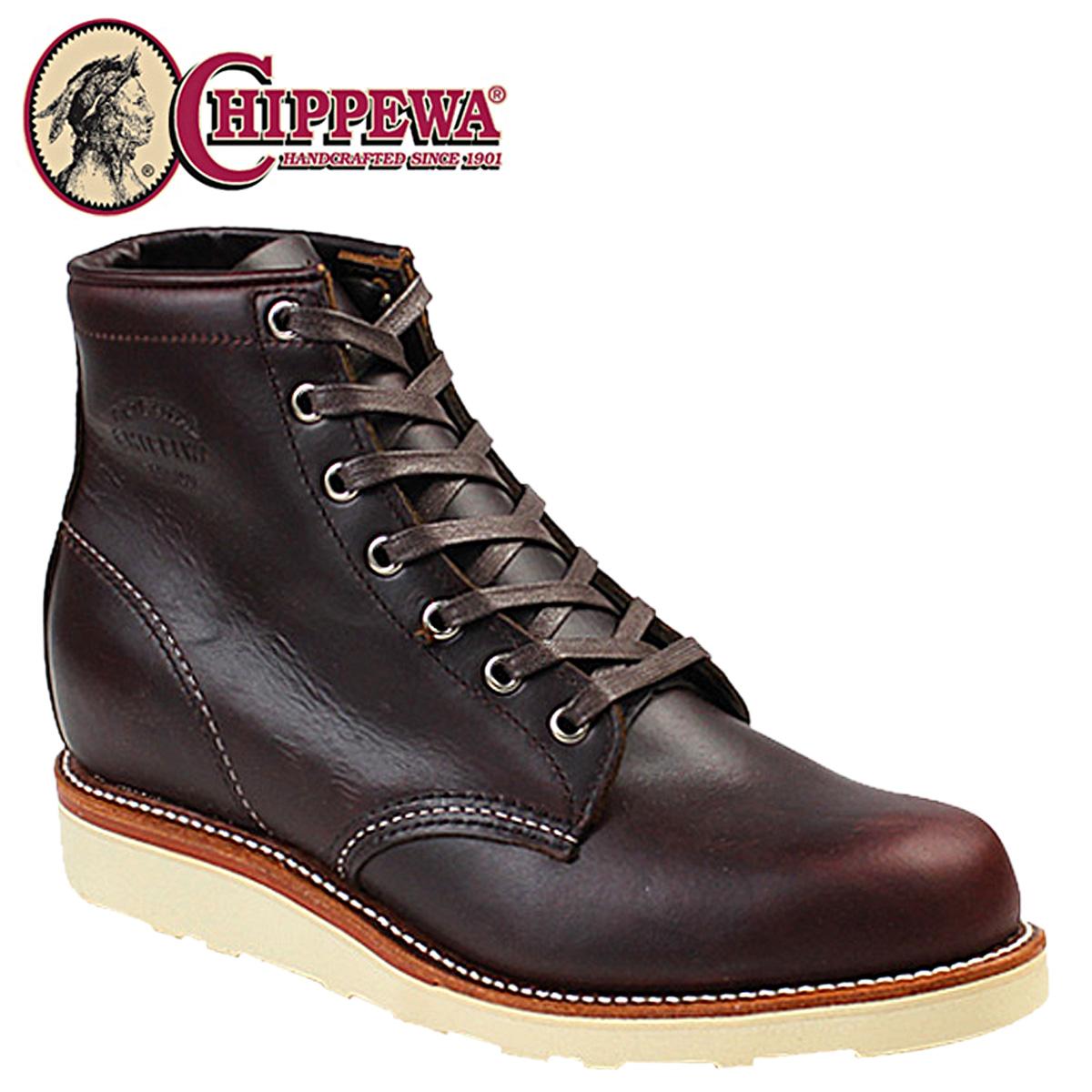 CHIPPEWA チペワ INCH PLAIN TOE WEDGE ブーツ 6インチ プレーン トゥ ウェッジ ブーツ 61901M16 Dワイズ コードバン メンズ