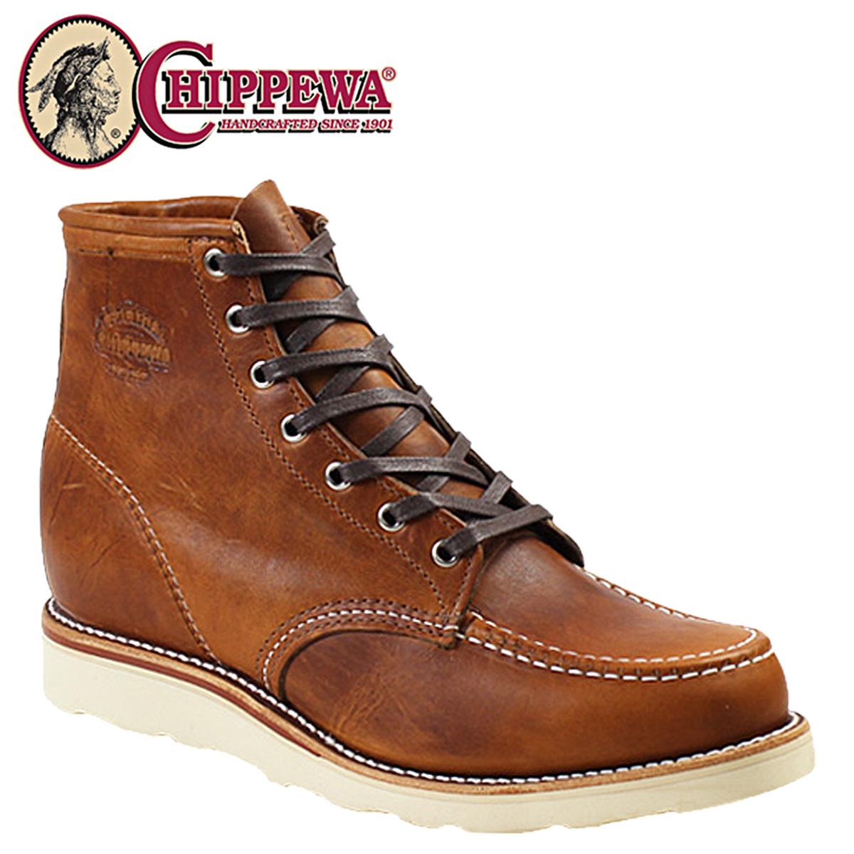 CHIPPEWA チペワ 6インチ モック トゥ ウェッジ ブーツ 6INCH TAN RENEGADE MOC TOE WEDGE Eワイズ レザー 1901M22 タン ブーツ BOOT メンズ