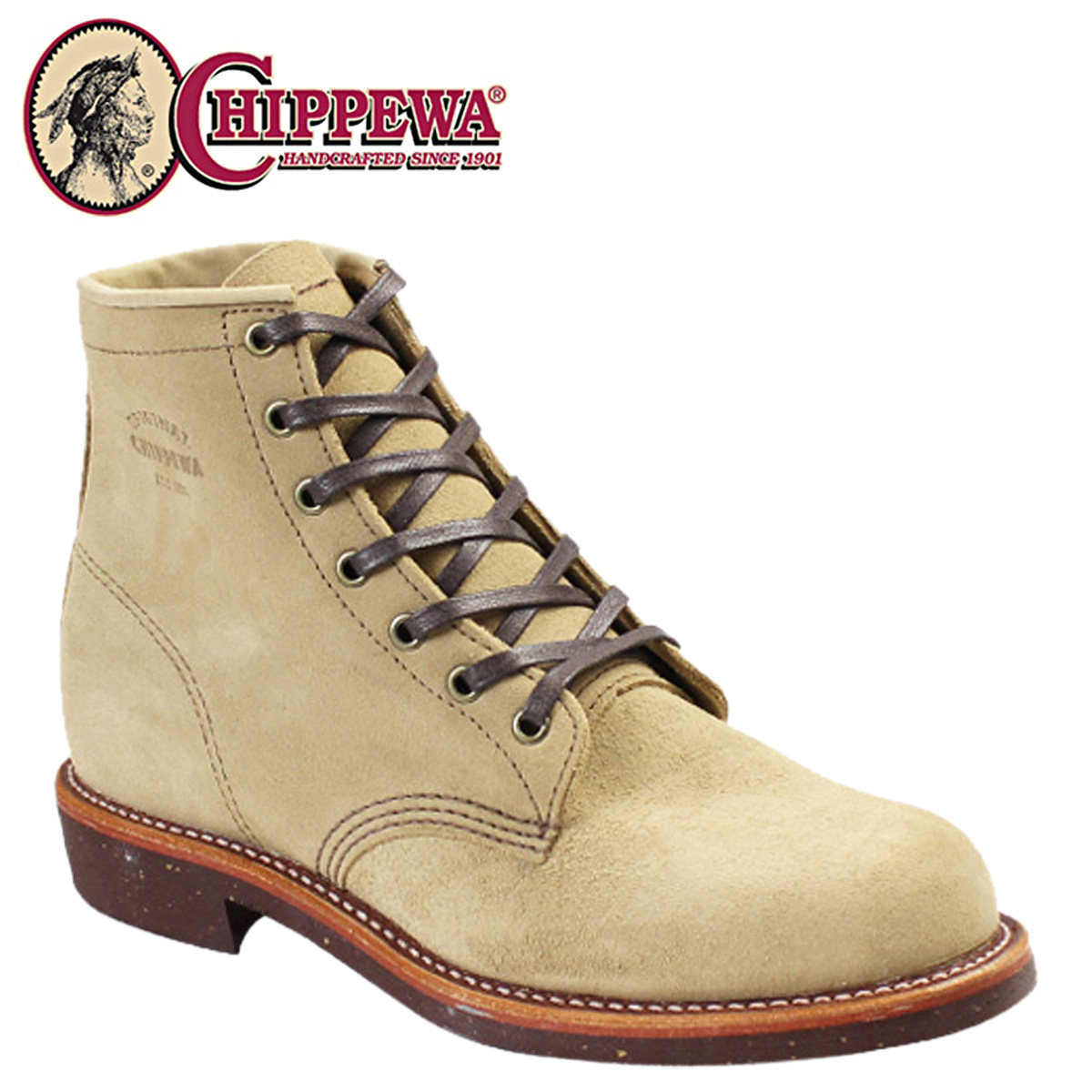 CHIPPEWA チペワ 6インチ サービス ブーツ 6INCH SERVICE BOOT Dワイズ スエード 1901M27 サンド メンズ [3/30 再入荷]