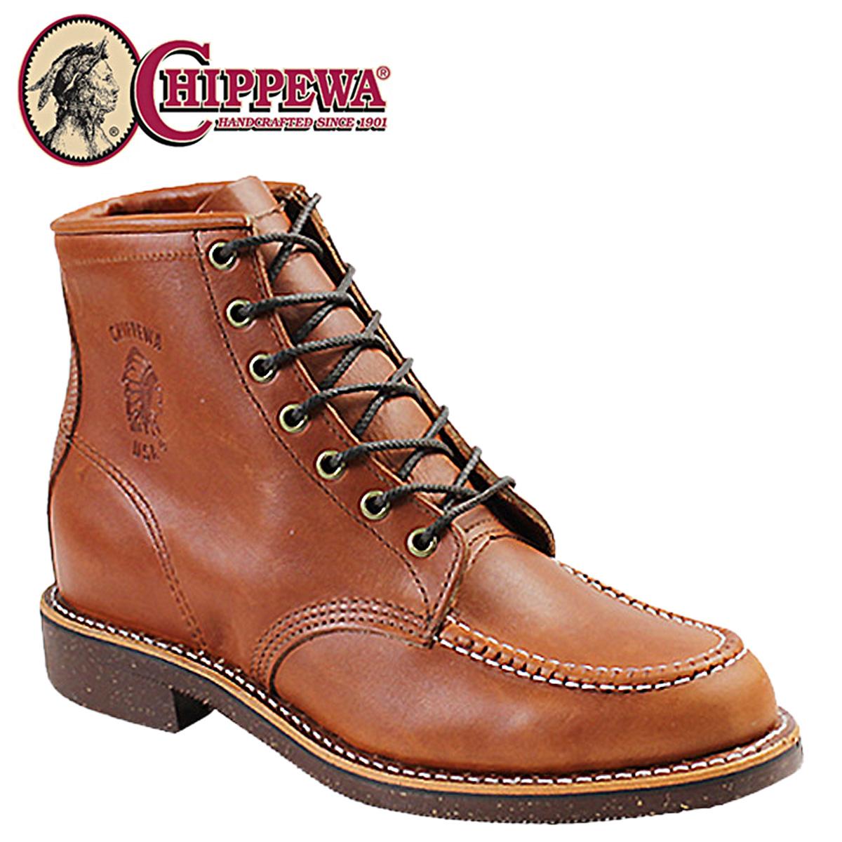 [SOLD OUT]chipewa CHIPPEWA 6 inchimokkutubutsuororasetto 99822 6INCH MOC TOE BOOT D怀斯皮革人