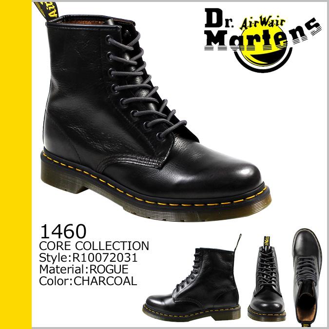 点 2 x 皮革男装博士马滕斯 Dr.Martens 1460 R10072031 8 孔靴 [木炭] [定期] ★ ★