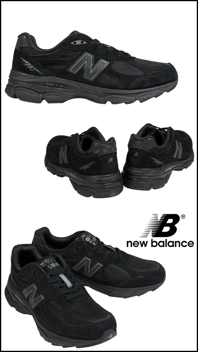 new balance 990 all black