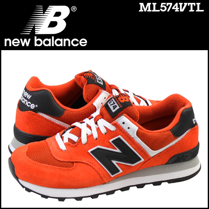 new balance 574 orange red