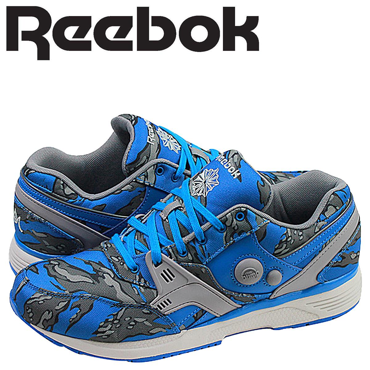 Reebok リーボック ポンプ スニーカー PUMP RUNNING DUAL STASH COLLECTION V61555 メンズ 靴 ブルー 【決算セール 返品不可】