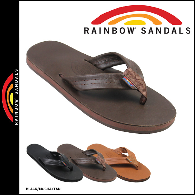 RAINBOW SANDALS and ☆ SINGLE LAYER PREMIER LEATHER WITH ARCH SUPPORT ☆.  Upper color