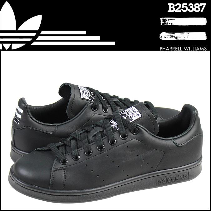 阿迪达斯集团阿迪达斯财团 PHARRELL WILLIAMS 斯坦史密斯固体包运动鞋斯坦史密斯包皮革固体男 B25387 黑色