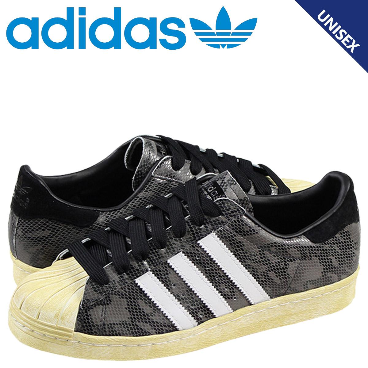 Point 2 x adidas originals adidas Originals SUPERSTAR 80S sneakers superstar 80S leather mens Womens G95846 Black Snake unisex [3 8 new in stock]