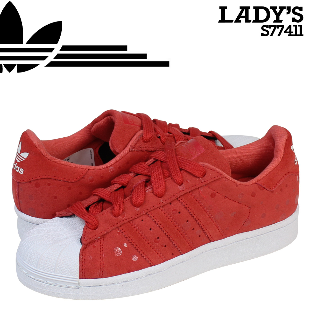 825fb766f283 Adidas originals adidas Originals Womens SUPERSTAR W sneakers Super Star  woman S77411 tomatoes  9 4 new in stock