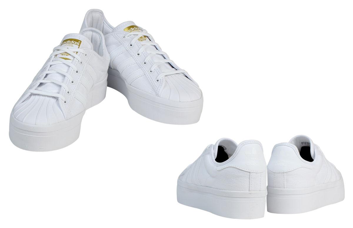 Adidas Originals Baskets Superstar Hauteur Blanc Et Noir Cu0B2Kn