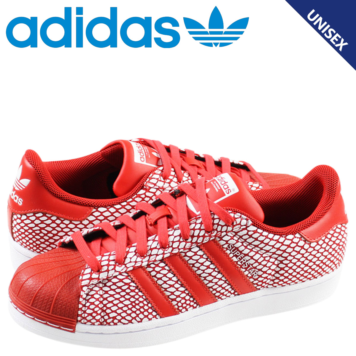 afc6d0a9b39b Adidas originals adidas Originals SUPERSTAR SNAKE PACK sneakers Super Star  snake Pack leather men s women s S82730 red unisex  7   4 new in stock