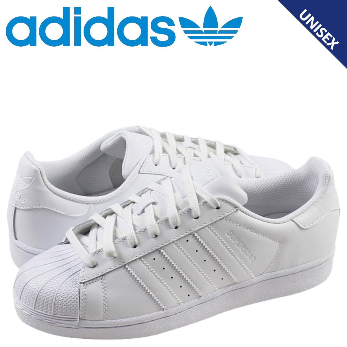 Adidas originals adidas Originals superstar sneakers SUPERSTAR FOUNDATION  B27136 men gap Dis shoes white e9d48bc87