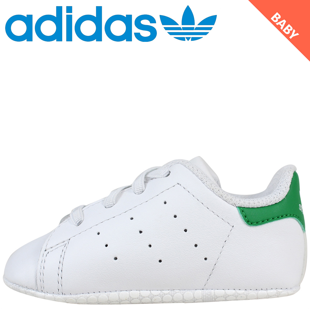adidas Originals Stan Smith kids baby Adidas sneakers STAN SMITH CRIB shoes  B24101 white white originals