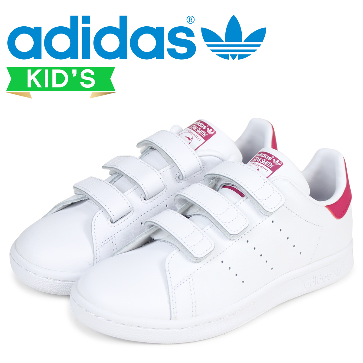 SOLD OUT  adidas originals adidas Originals Stan Smith sneakers kids STAN  SMITH CF C B32706 shoes white