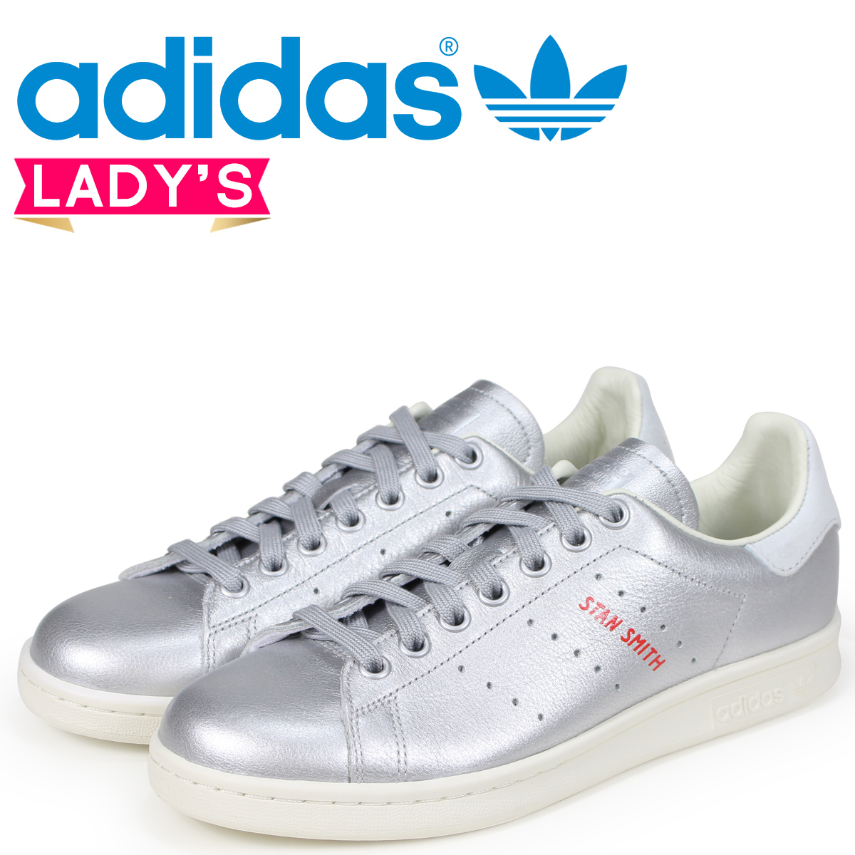 promo code 761aa a0c09 adidas Originals Stan Smith Adidas originals Ladys sneakers STAN SMITH W  B41750 silver load planned Shinnyu load in reservation product 620  containing