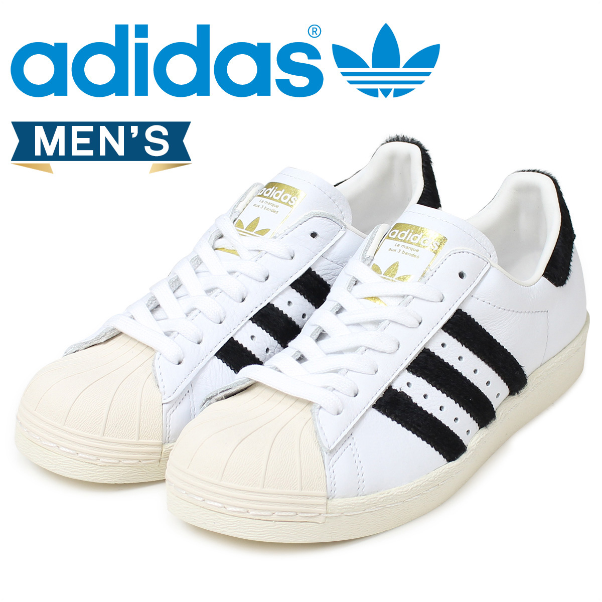 adidas superstar Lady's men sneakers Adidas Originals SUPERSTAR 80S BB2231 shoes white white originals