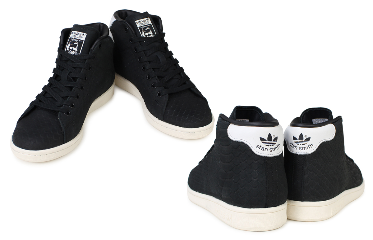 64ed45f047f57d Adidas Stan Smith Womens sneakers adidas originals STAN SMITH MID W BB4863 shoes  black originals  11   26 new in stock