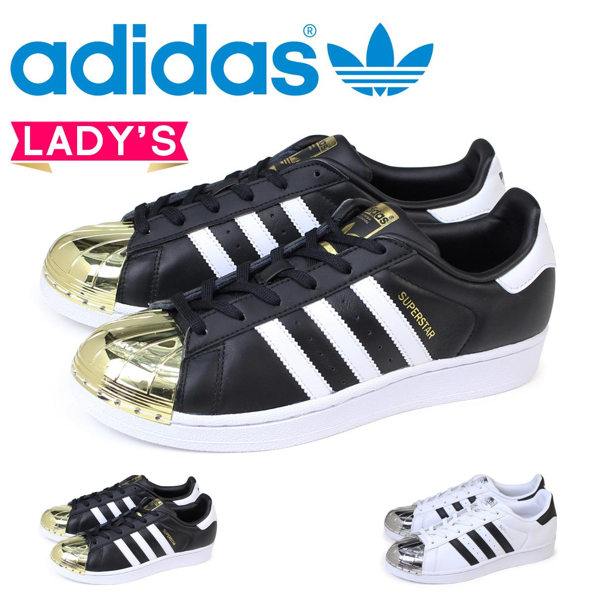 adidas スーパースター レディース スニーカー アディダス Originals SUPERSTAR METAL TOE W BB5114 BB5115 靴 ホワイト ブラック オリジナルス
