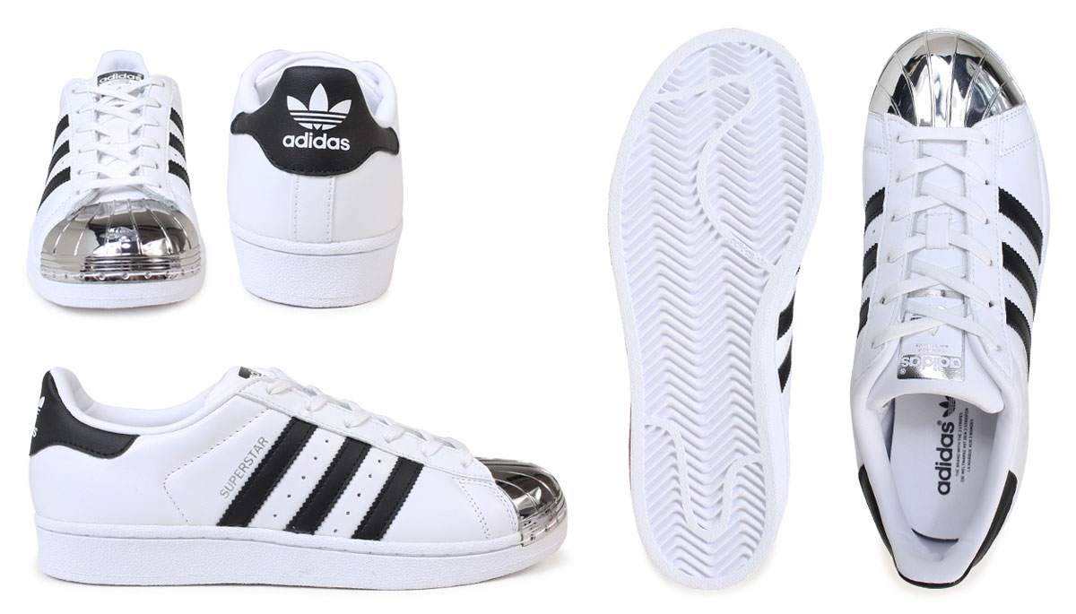 save off 77354 04606  up to 2,000 yen OFF coupon  Adidas superstar Lady s sneakers adidas  originals SUPERSTAR METAL TOE W BB5114 BB5115 shoes white black originals   1 17 Shinnyu ...